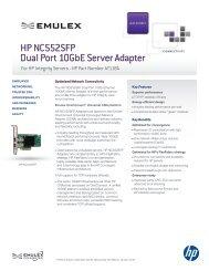 HP NC552SFP Dual Port 10GbE Server Adapter - Emulex