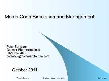 Monte Carlo Simulation and Management