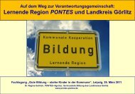 Lernende Region PONTES und Landkreis Görlitz - EUROlocal