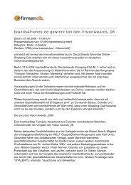 brands4friends.de gewinnt bei den VisionAwards_08 - Firmendb