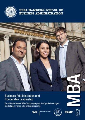 Studiengang Business Administration and Honourable Leadership