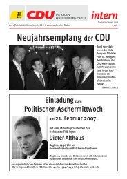 Aus dem Kreis - CDU Main-Tauber