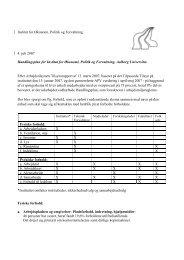 Institut for Økonomi, Politik og Forvaltning 4. juli 2007 Handlingsplan ...