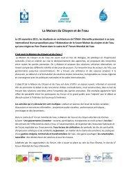 La Maison du Citoyen et de l'eau - 6th World Water Forum