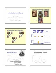 Introduction to MrBayes Bayes' theorem - Molecular Evolution