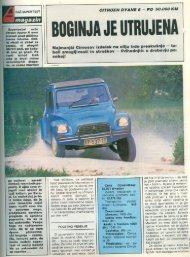 Prenesi PDF testa Citroën Citroën Dyane 6 - Avto Magazin