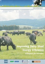 Improving Dairy Shed Energy Efficiency A Report For Farmers