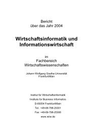 2004 - Chair of Business Administration, esp. Information Systems