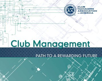 Club Management Path To A Rewarding Future - CMAA