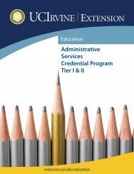 Administrative Services Credential Program Tier I & II - UC Irvine ...