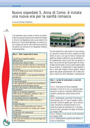 Nuovo ospedale S. Anna di Como: è inziata una nuova era ... - Ipasvi