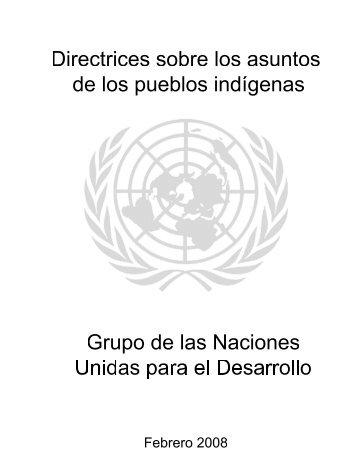 Directrices sobre los Asuntos de los Pueblos Indígenas, 2008 - Acnur