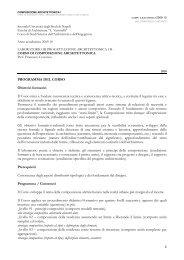 DID10_COMP1B_programma - Facoltà di Architettura Luigi Vanvitelli