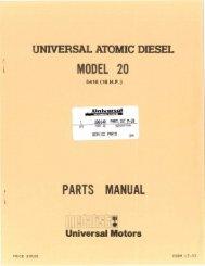 M20 Parts Manual - Westerbeke