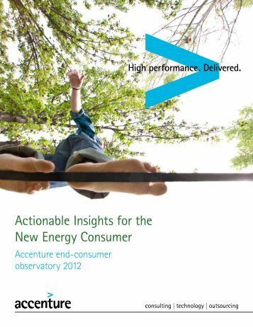 Actionable Insights for the New Energy Consumer - Accenture