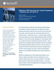 Effective OPC Security for Control Systems - SCADAhacker