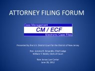 ATTORNEY FILING FORUM June 28, 2012 - for the District of New ...