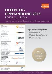 UPPHANDLING 2013 OFFENTLIG - Conductive