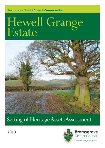 Hewell Grange Estate - Setting of Heritage Assets Assessment