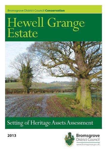 Hewell Grange Estate - Setting of Heritage Assets Assessment