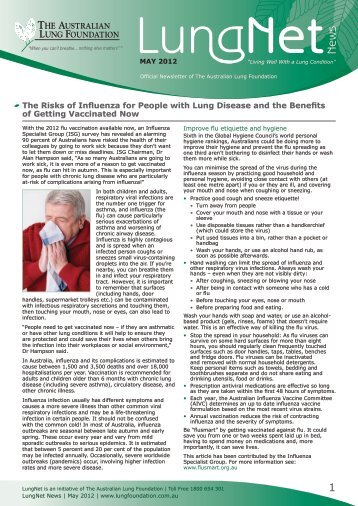 LungNet News May 2012 - Lung Foundation