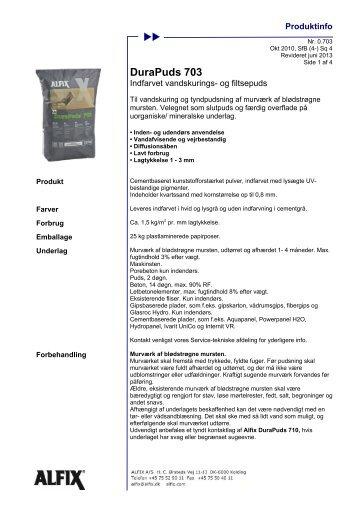 DuraPuds 703 - Indfarvet vandskurings- og filtsepuds - Alfix A/S