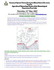 Agricultural Meteorology Division, India Meteorological Department ...