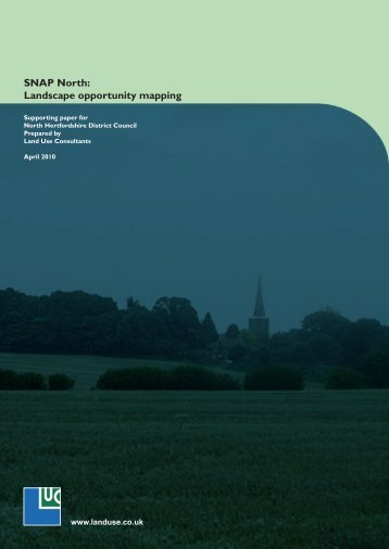 Landscape opportunity mapping - North Hertfordshire District Council