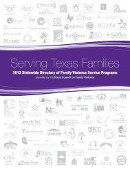 Serving Texas Families - Texas Council on Family Violence