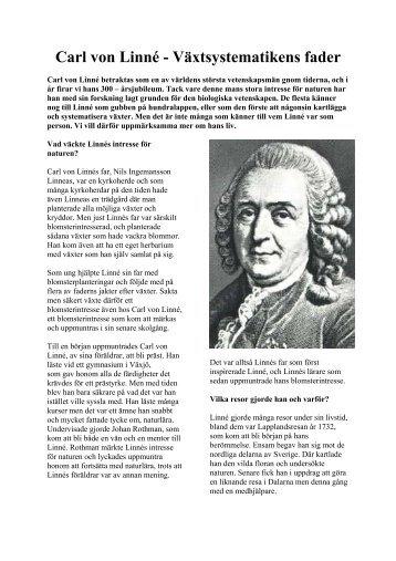 Carl von Linné - Växtsystematikens fader