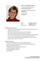 Dr. rer. nat. Regina Gellrich - Innovationskreis Weiterbildung