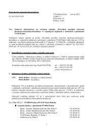 Zadávací dokumentace veřejné zakázky