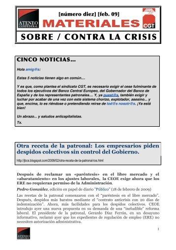 SOBRE / CONTRA LA CRISIS