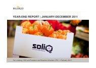(Microsoft PowerPoint - Billerud_Jan-Dec 2011 ... - Billerud AB