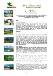 Golfturnier Caribbean Single Golf Cup 24. – 31 ... - Dom Rep Tours