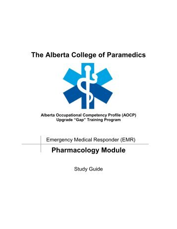 Pharmacology - Alberta College of Paramedics