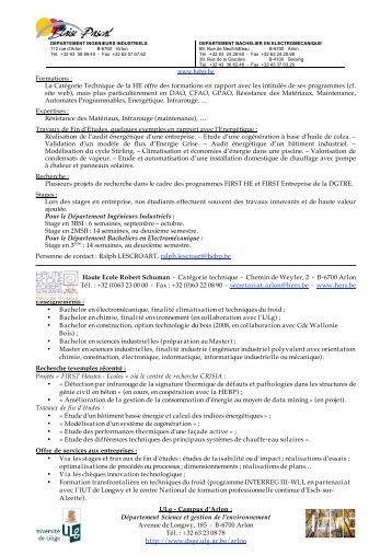 Présentation des institutions - Interface Entreprises-Université
