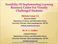 Midhula Soman V. S. and K. G. Sudhier. Feasibility of Implementing ...