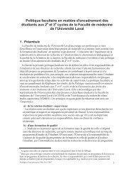 et 3 - Faculté de médecine - Université Laval