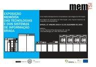 exposição memória das tecnologias e dos sistemas de ... - memTSI