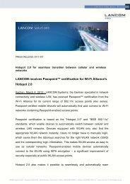 "LANCOM receives Passpointâ""¢ certification for Wi-Fi Alliance's ..."