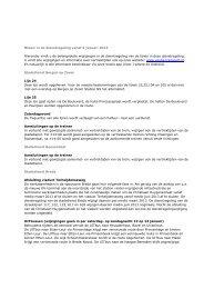 Nieuw in de dienstregeling vanaf 6 januari 2013 Hieronder ... - Veolia