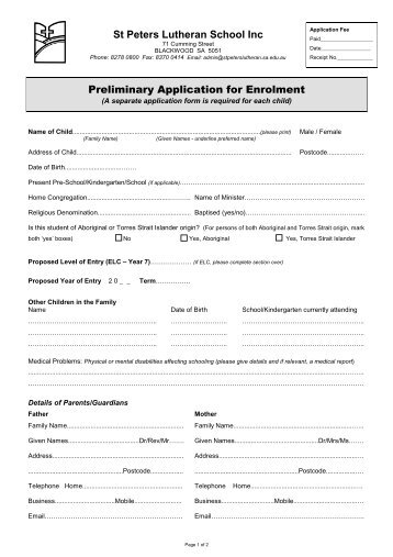 lc application for school