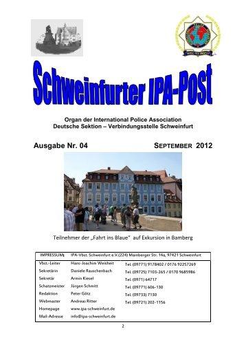 Ausgabe Nr. 04 SEPTEMBER 2012 - IPA Schweinfurt