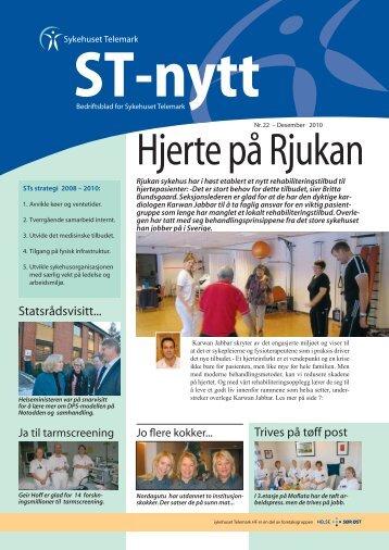 ST-nytt nr.22, 2010 - Sykehuset Telemark