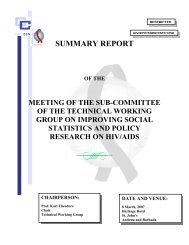 SUMMARY REPORT - Pan Caribbean Partnership against HIV & AIDS
