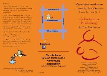 Kursinformationen …nach der Geburt Geburtshaus Kreuzberg