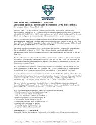 2013 MAC Football Composite Schedule - University of Toledo ...