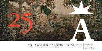 Die 25. Arolser Barock-Festspiele stehen unter
