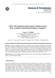 IEEE 1451 Standard and Frequency Output Sensors - International ...
